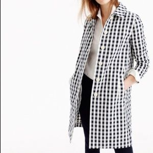 J. Crew | Gingham Trench Coat | NWT!! Size M